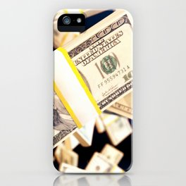 Flying dollars iPhone Case
