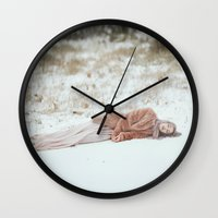 frozen Wall Clocks featuring Frozen by Jovana Rikalo