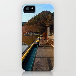 River Danube valley, at the harbour | waterscape photography iPhone Case