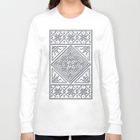 scandinavian Long Sleeve T-shirts featuring Scandinavian Patterns I by Fischer Fine Arts