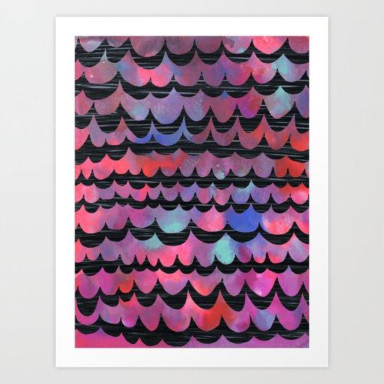 WAVES - Purple Art Print