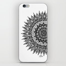 Zentangle - Sunflower iPhone Skin