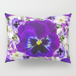 PURPLE PANSIES GARDEN LILAC ART Pillow Sham
