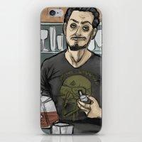tony stark iPhone & iPod Skins featuring Tony Stark, Billionaire by Brizy Eckert