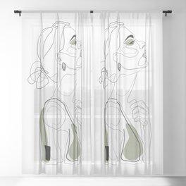 Olive Beauty Sheer Curtain