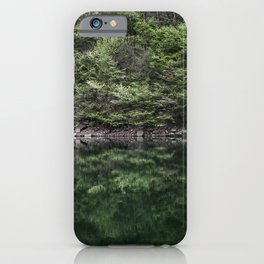 Reflections in lake iPhone Case