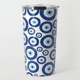 Greek Mati Mataki - Matiasma Evil Eye Pattern #1 Travel Mug