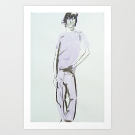 Surfer boy Art Print