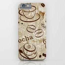 Grunge Coffee Background - 04 iPhone Case