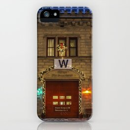 Chicago Firehouse with W flag iPhone Case