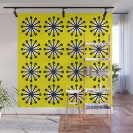 Geometric Pattern 141 (Yellow dandelion) Wall Mural