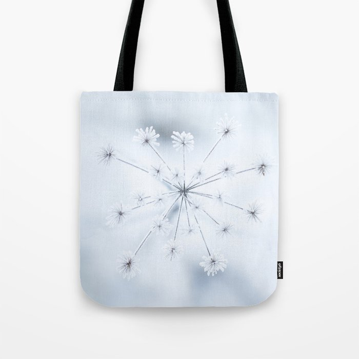 Beautiful Dry Flower with Ice Crystals #decor #buyart #society6 Tote Bag