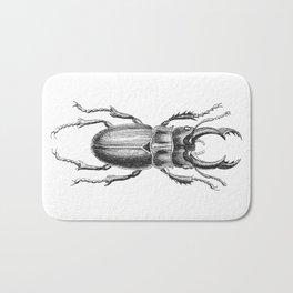 Vintage Beetle black and white Bath Mat