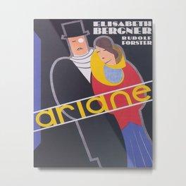 Ariane Vintage Movie Poster Metal Print