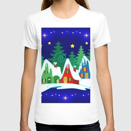 Home for the Holidays Picture,Christmas and Holiday Fantasy Collection T-shirt