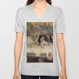 Ballet At The Paris Op Ra 1877 78 By Edgar Degas | Reproduction | Famous French Painter Unisex V-Neck