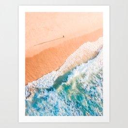 A Shadow on the beach Art Print