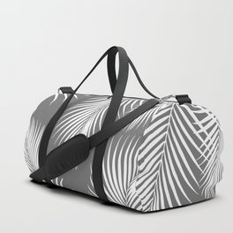 Dark Gray Tropical Pattern Duffle Bag