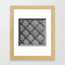 Metallic And Decorative - Grey Monochrome #decor #society6 #buyart Framed Art Print