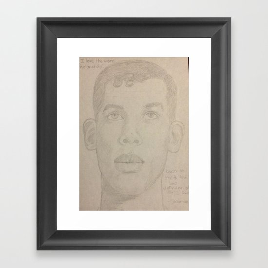 Stromae Framed Art Print