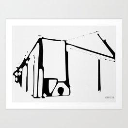 Black Structure Art Print