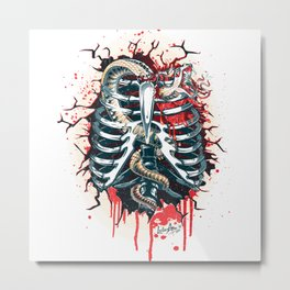 A Wounded Heart Metal Print
