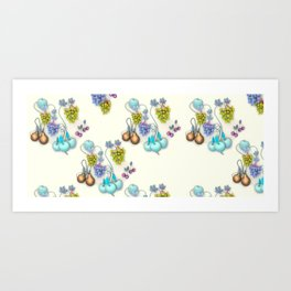 1994 Fruit Wallpaper Art Print
