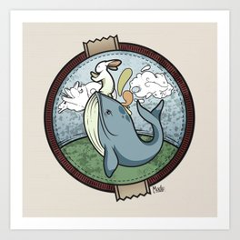 Tai Chi The Rabbit and The Whale Art Print