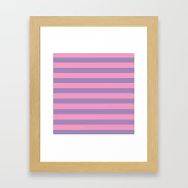 Pink & Lavender Stripe Pattern Framed Art Print