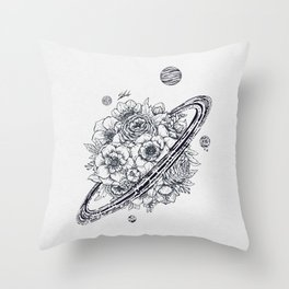 Flowery Planet. Throw Pillow