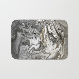 The Eye of the Tiger, Gold and Gray Bath Mat