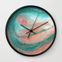 madonna Wall Clocks featuring Marine Madonna by Catherine Holcombe