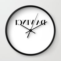 da vinci Wall Clocks featuring DA VINCI by SEEN