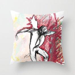 A Demon Dances Throw Pillow