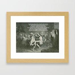 Tam O'Shanter Burns Night Celebrations Framed Art Print