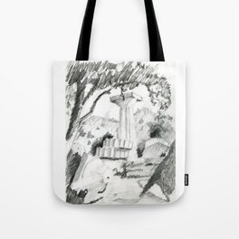 Old ruins of doric temple Tote Bag