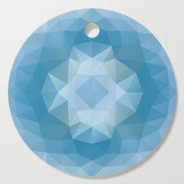 Triangles design in soft blue colors Cutting Board