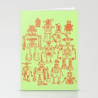 robots Stationery Cards featuring Robots! by Paul McCreery