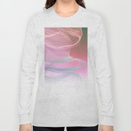 Flow Motion Vibes 1. Pink, Violet and Grey Long Sleeve T-shirt