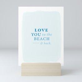 Beach & Back Mini Art Print