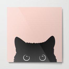 Black cat 1 Metal Print