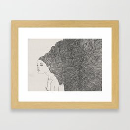 Obession with hair Framed Art Print