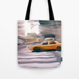 Taxi Cab. Tote Bag