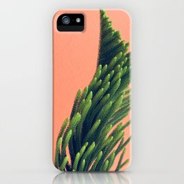 Coral Greenery  iPhone Case