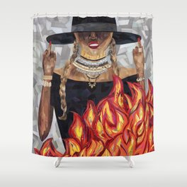 Okay Ladies, Now Let's Get in Formation Shower Curtain
