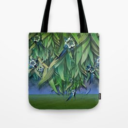 """""""Spring Forest of Surreal Leaf litter and flowers"""" Tote Bag"""