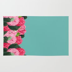 Floral & Turquoise Rug