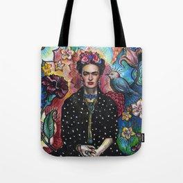 Frida Kahlo Portrait (4) Tote Bag