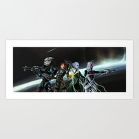 mass effect Art Prints featuring Mass Effect by ssst