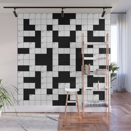 Cool Crossword Pattern Wall Mural